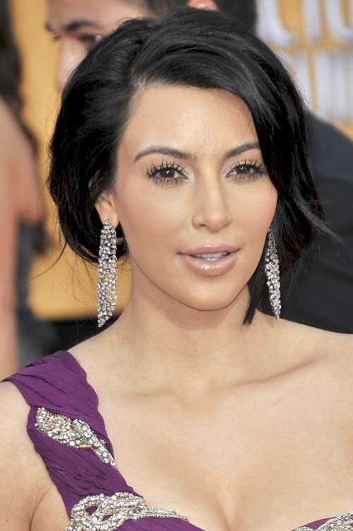 Kim Kardashian holiday hair style 2011