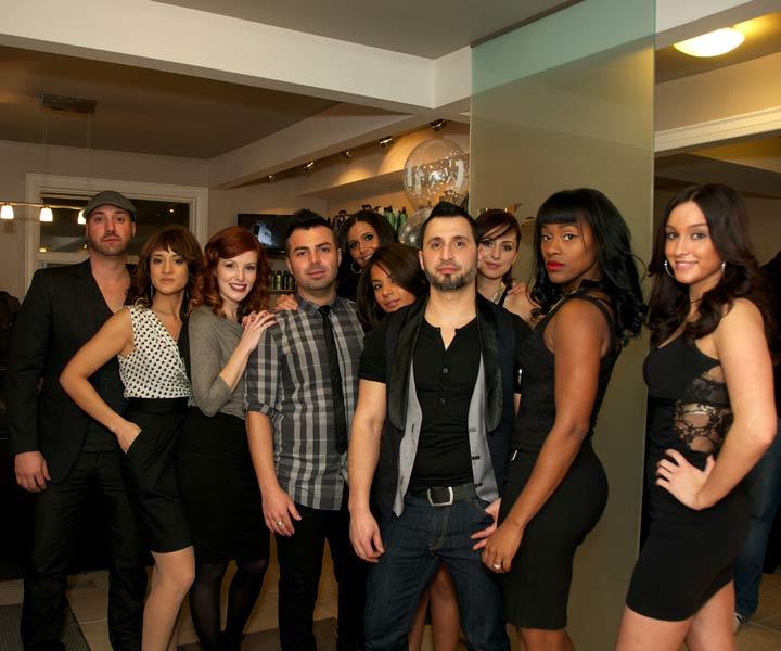 The Koi Hair Studio team celebrates the salon's one year anniversary.
