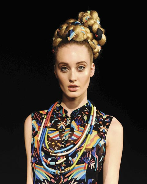 Spring 2012 hair trends from the runway naturla hair and braids.