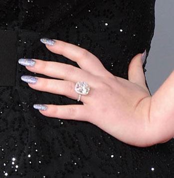 Adele's 2012 Grammy Louboutin nails 2