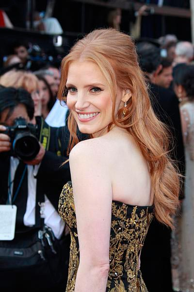 Best oscars hair 2012 Jessica Chastain