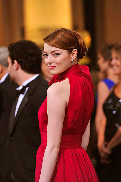 Best oscars hair 2012 Emma Stone