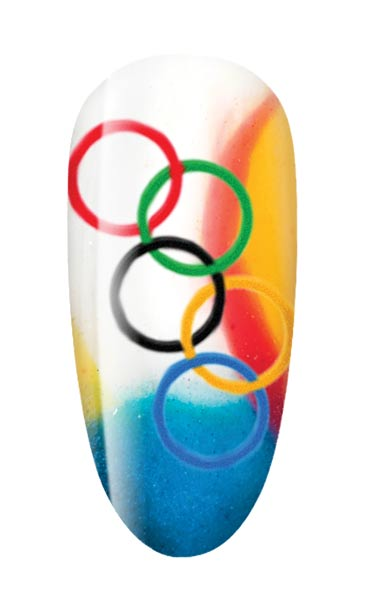 12 07 olympic nail art cnd how to 1