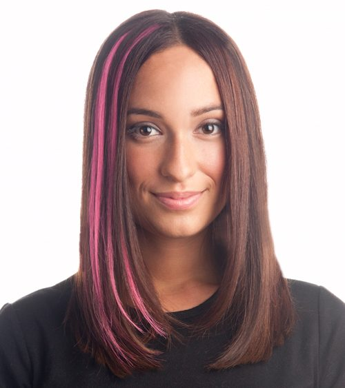 12 09 hair treats pink extensions breast cancer