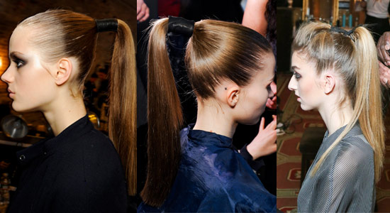 13 08 pony tails fall 2013 hair trends 2