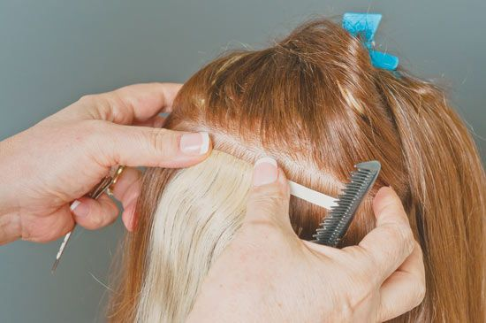 simplicty hair extensions application steps how to 2