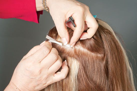simplicty hair extensions application steps how to 4