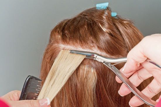 simplicty hair extensions application steps how to 6
