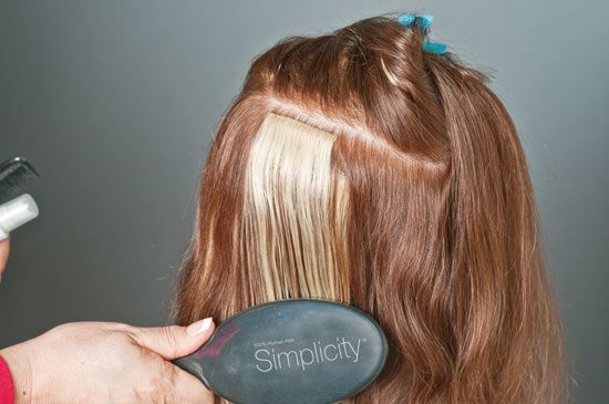 simplicty hair extensions application steps how to 7