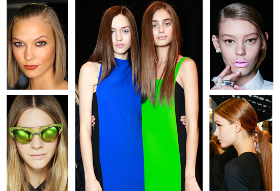 14 01 spring hair trends ss runway fw 2014 sleek