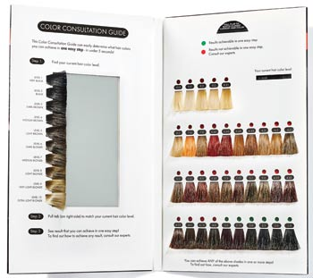 Hairstylist colour swatch book