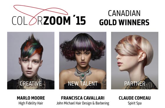 Goldwell color zoom 2015 canadian winners