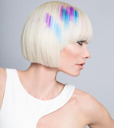 trendy colour techniques graphic content