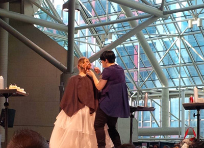 bridal hair stage show