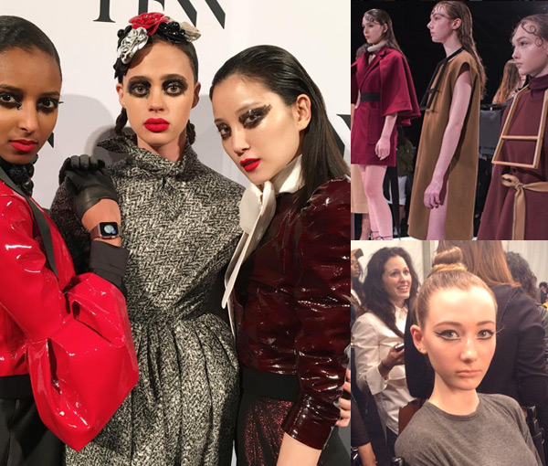 strong hold hair toronto fashion week trend