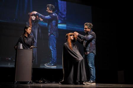 angelo seminara hairstyling davines world tourstage show
