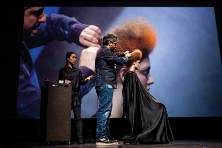angelo seminara hairstyling stage show