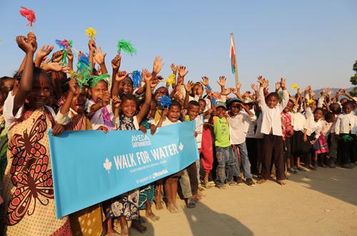 walk for water Aveda Canada in Madagascar