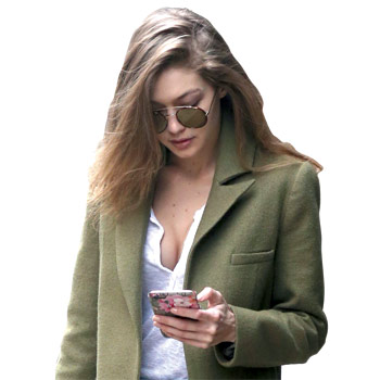 Gigi Hadid wearing the nude hair colour trend