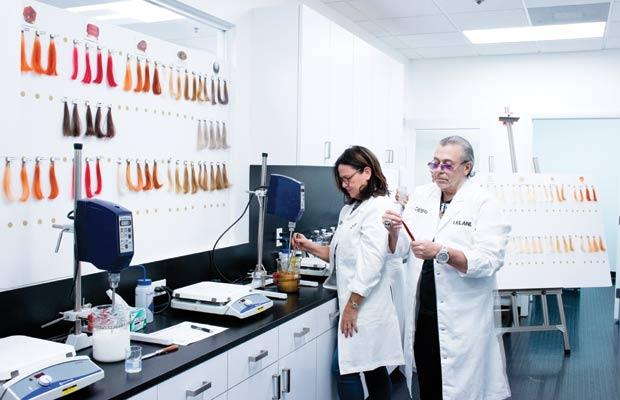 Leland Hirsch in the lab