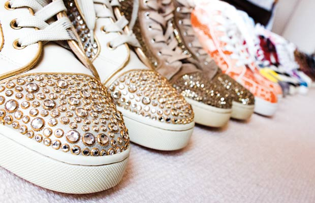 Christian Louboutin mixed media shoes