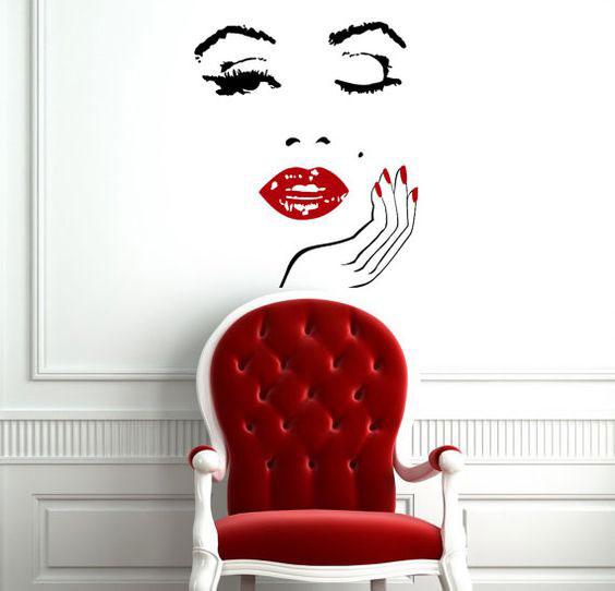 Salon decor ideas - wall decal