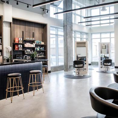 Inside Onyx & Ivory—A Contemporary Calgary-Based Salon With a Unique Bar-Style Setup